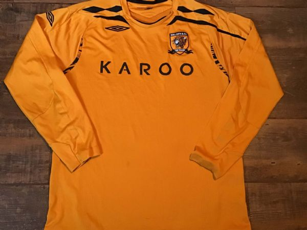 2007 2008 Hull City Home L/s Football Shirt Large